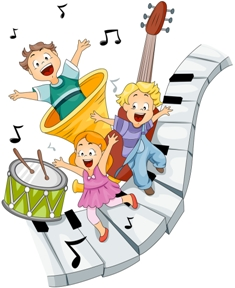 cartoon-three-children-on-instruments